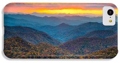 Mountain Sunset IPhone 5c Cases
