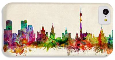 Moscow Skyline iPhone 5C Cases