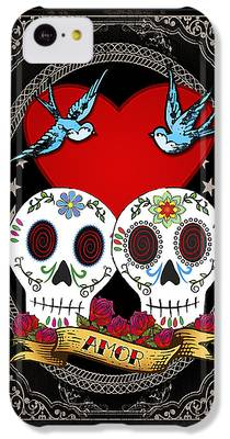 Folk Art Digital Art iPhone 5C Cases