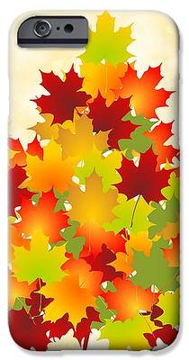 Red Leaves iPhone 6 Cases