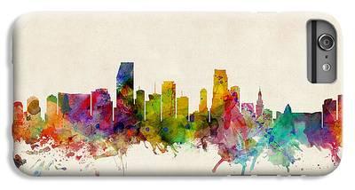 Miami Skyline iPhone 6 Plus Cases