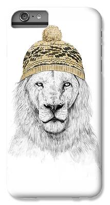 Lion Mixed Media iPhone 6 Plus Cases