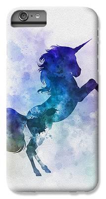 Unicorn Mixed Media iPhone 6s Plus Cases