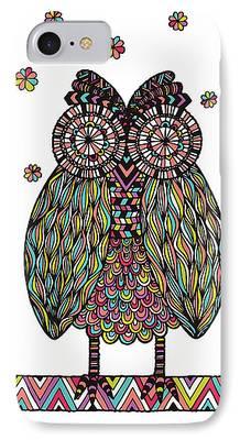 Chevron Owl iPhone Cases