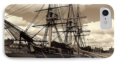 Ship In Sepia iPhone Cases