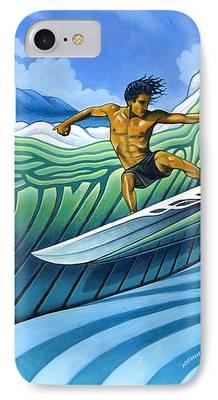 Surfer Art iPhone Cases