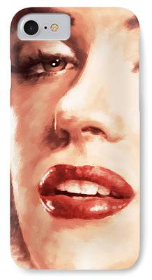 1950s Movies Paintings iPhone Cases
