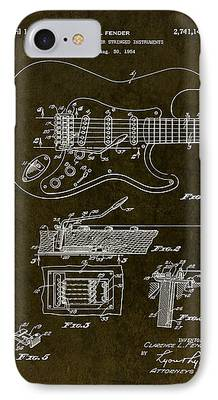 Stratocaster Drawings iPhone Cases