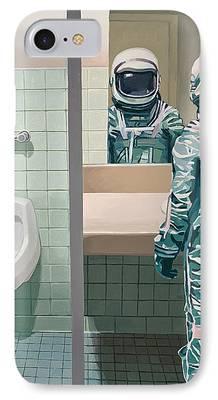 Bathroom Paintings iPhone Cases