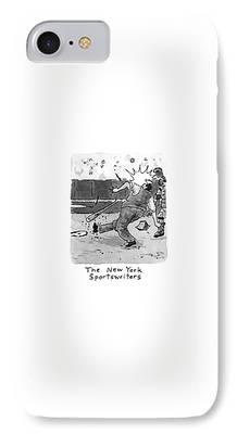 Baseball Uniform Drawings iPhone Cases