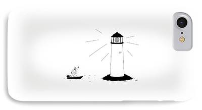 Lighthouse Drawings iPhone Cases