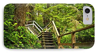 Wooden Stairs iPhone Cases