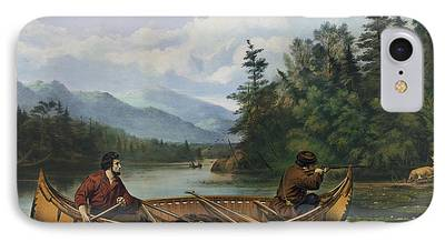 Canoe Drawings iPhone Cases