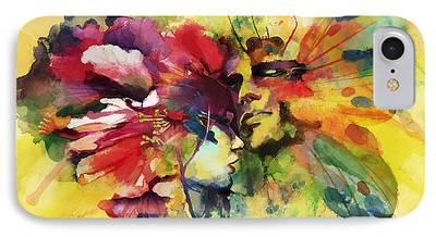 Multimedia Paintings iPhone Cases