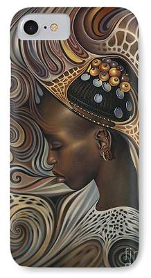 African Paintings iPhone Cases