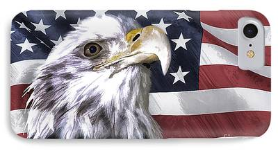 Eagle With Red Eye iPhone Cases