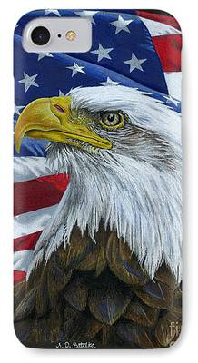 Fourth Of July Drawings iPhone Cases