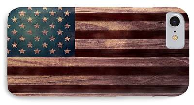 Old Glory Digital Art iPhone Cases