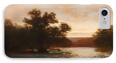 Mangrove Forest Paintings iPhone Cases