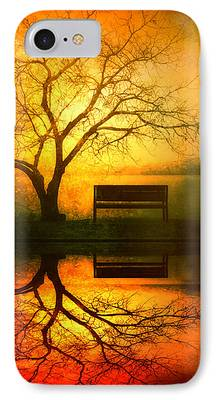 Tree Reflection iPhone Cases