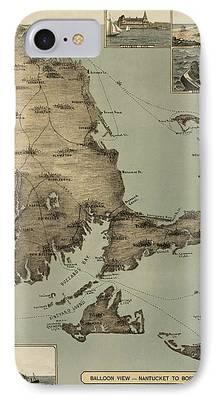 Cape Cod Drawings iPhone Cases