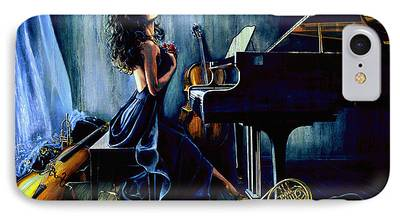 Grand Piano Paintings iPhone Cases