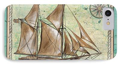 Tall Ship Paintings iPhone Cases