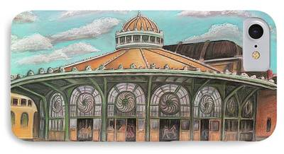 Asbury Park Carousel Paintings iPhone Cases