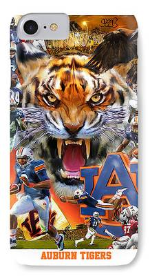 The Tiger Mixed Media iPhone Cases