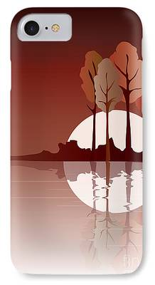 Fall Bushes iPhone Cases