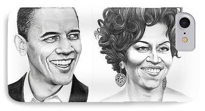 Barrack Obama Drawings iPhone Cases