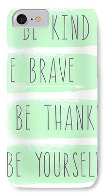 Brave Mixed Media iPhone Cases