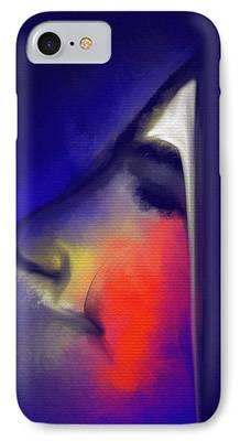 Visage Bleu iPhone Cases