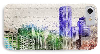 Charles River Mixed Media iPhone Cases