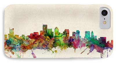 City. Boston Digital Art iPhone Cases