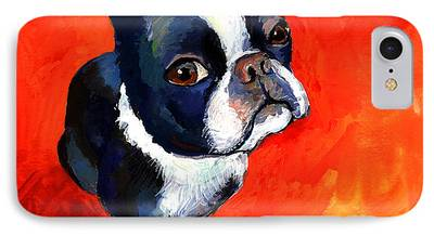 Puppies Drawings iPhone Cases
