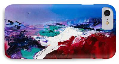 Red Abstract Paintings iPhone Cases