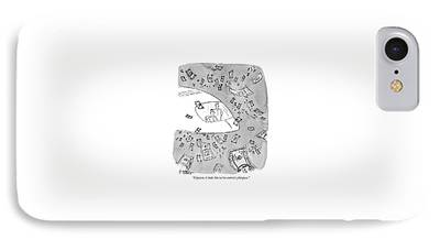 Cyberspace Drawings iPhone Cases