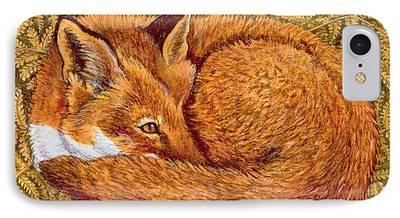 Fox Paintings iPhone Cases