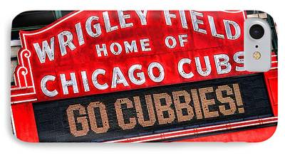 Wrigley Field Paintings iPhone Cases