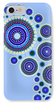 Abstract Expressionist Digital Art iPhone Cases