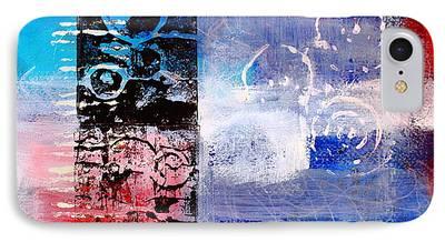 Linocut Paintings iPhone Cases
