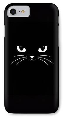 Black Dog Digital Art iPhone Cases