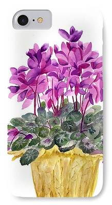 Cyclamen iPhone Cases