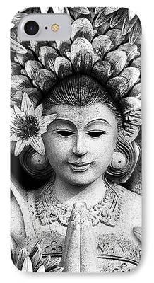 Hindu Goddess Mixed Media iPhone Cases