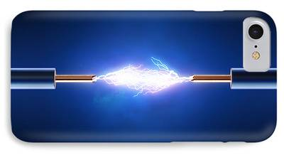 Electrical Digital Art iPhone Cases