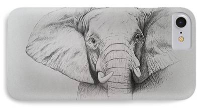 Elephant Drawings iPhone Cases