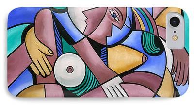 Women Together Digital Art iPhone Cases