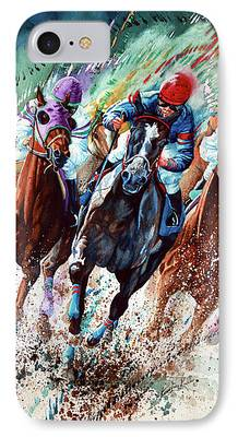 Horse Racing Paintings iPhone Cases