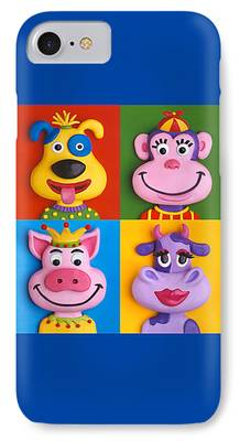 Four Animal Faces iPhone Cases